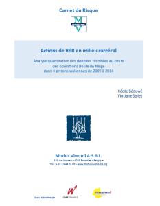 Carnet du risque : Actions de RdR en milieu carcéral